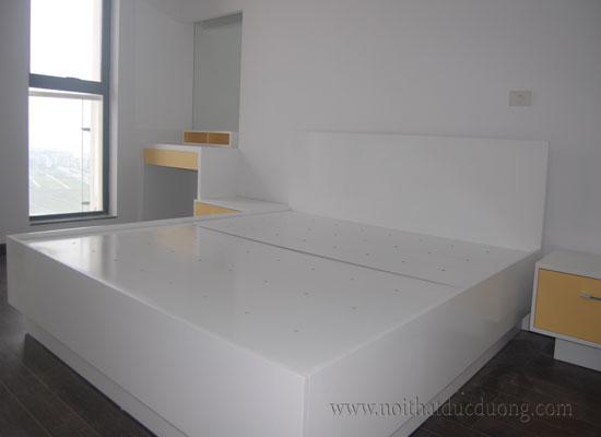 Giường ngủ gỗ sơn màu 25