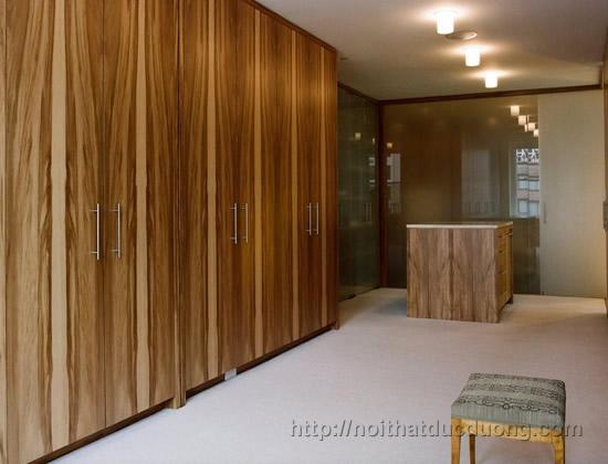 Tủ quần áo gỗ laminate âm trần 039