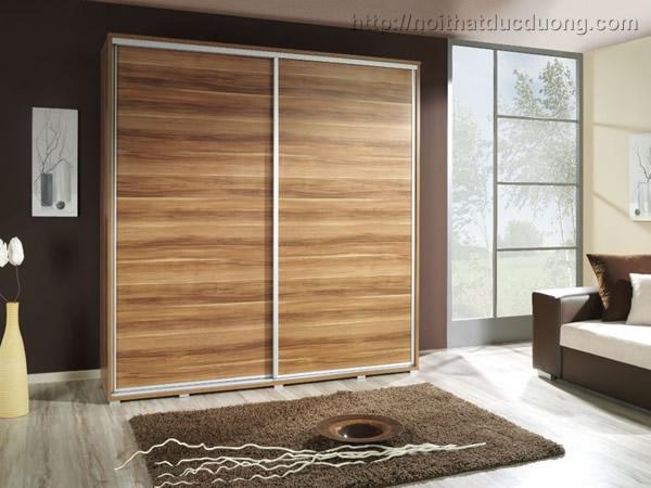 Tủ quần áo gỗ laminate cánh lùa 038