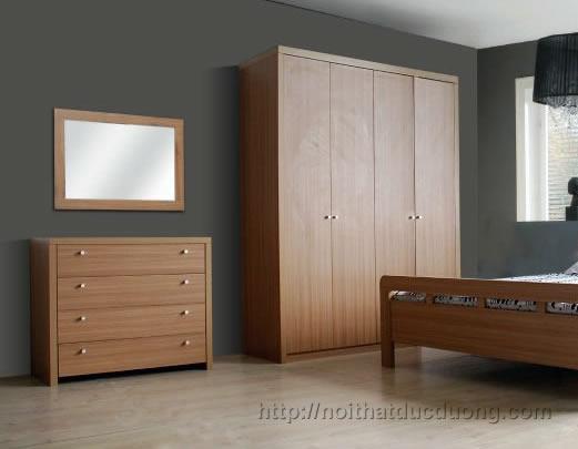 Tủ quần áo gỗ veneer sồi 034