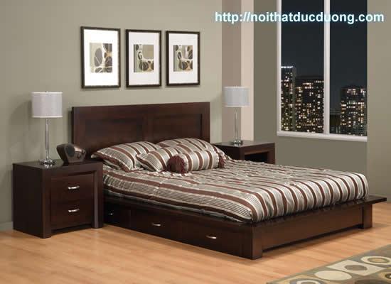 Giường ngủ gỗ óc chó đẹp cho phòng ngủ nhà bạn