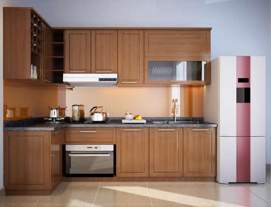 Thiết kế tủ bếp chữ L cho căn hộ chung cư nhỏ hẹp