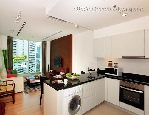 Mẫu tủ bếp đẹp cho căn hộ chung cư 120m2