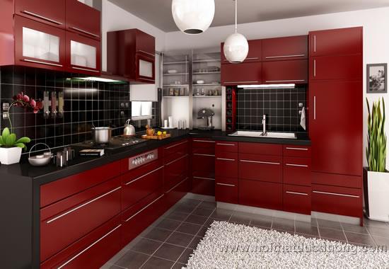 Tủ bếp acrylic màu boxdour 24