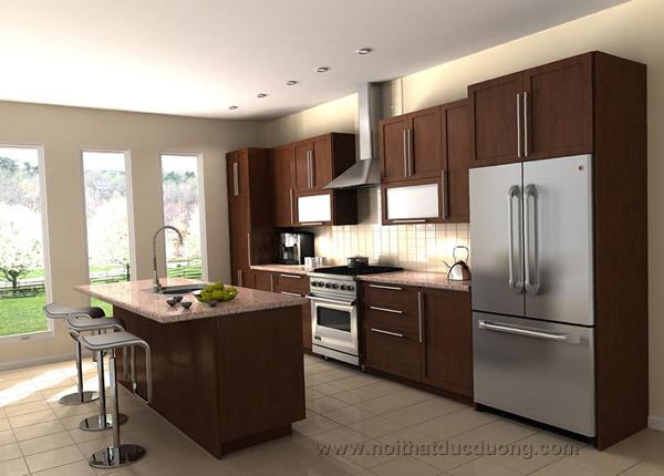 Mẫu tủ bếp tân cổ điển 15