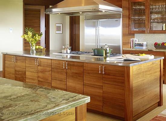 Tủ bếp bàn đảo gỗ laminate 29