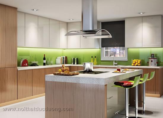 Tủ bếp laminate vân gỗ 50