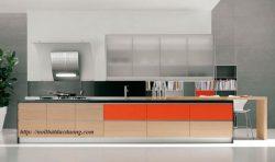 Tủ bếp veneer sồi – M35