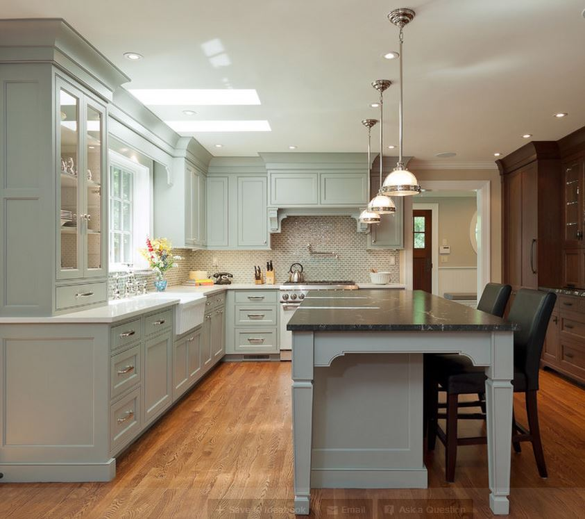 Tủ bếp cổ điển – M16