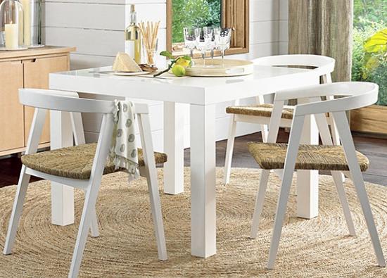 Mẫu bàn ăn sơn trắng M30