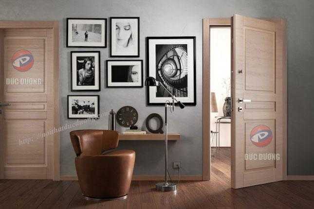 Cửa gỗ sồi tự nhiên – M53