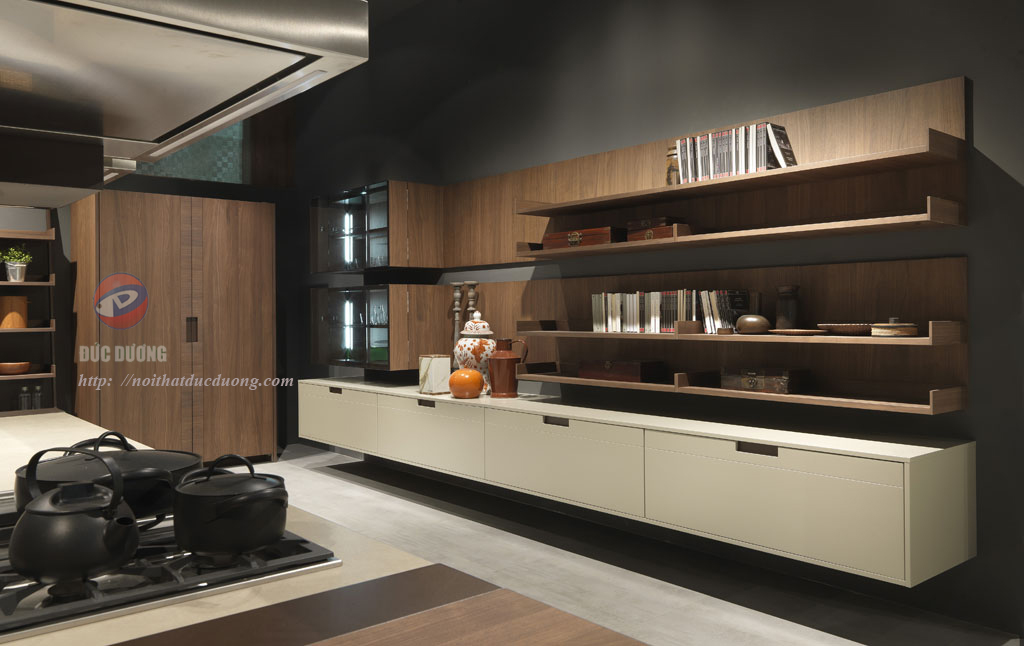 Tủ bếp gỗ óc chó cao cấp – M37