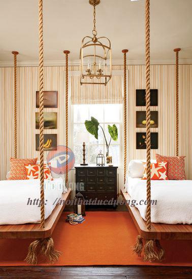 """"""" Hanging Bed """" – xu hướng thiết kế nội thất giường treo cho những ai ưa khám phá và trải nghiệm"""