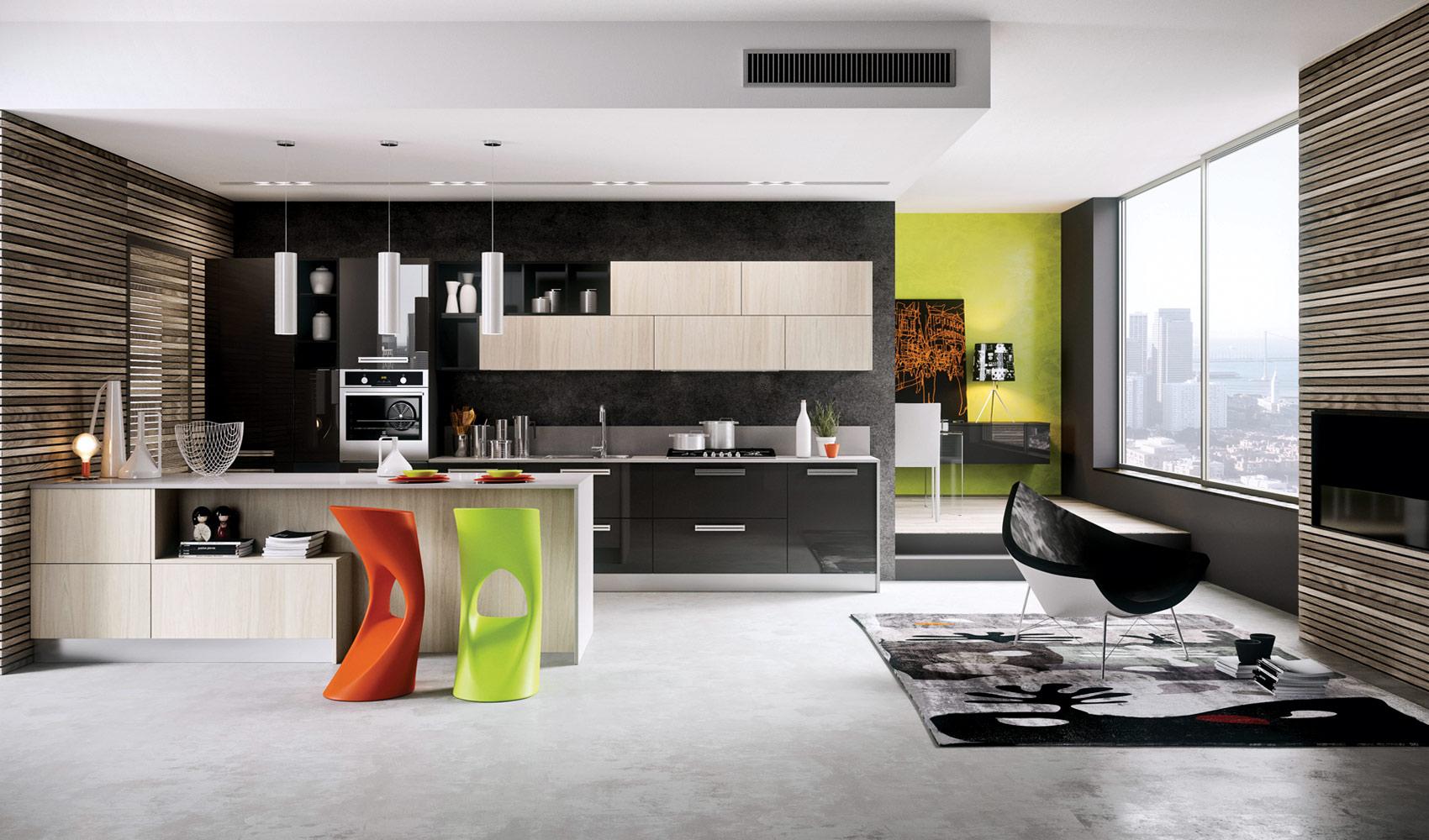 Tủ bếp cá tính, sang trọng – M39