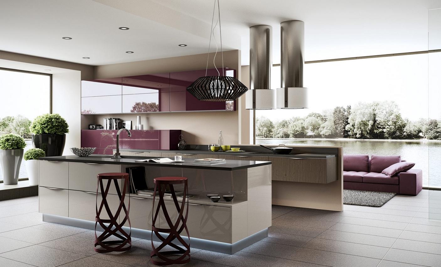 Tủ bếp hiện đại – M56