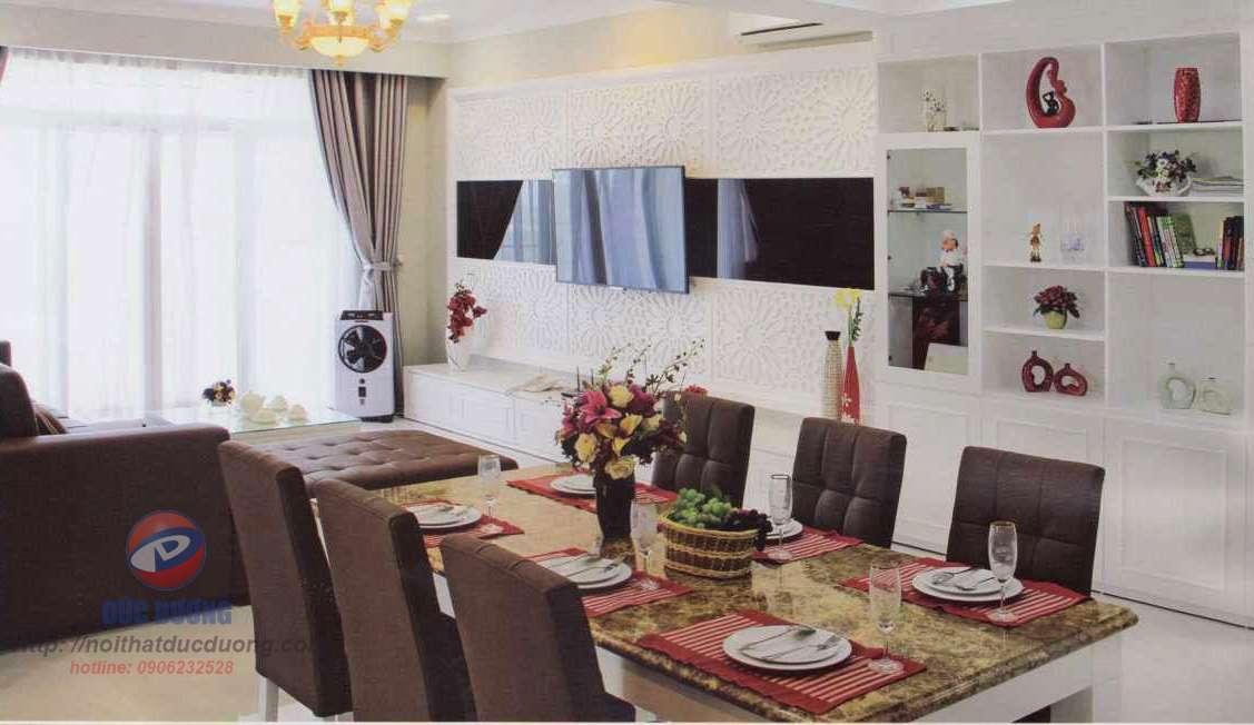 Tư vấn thiết kế nội thất căn hộ với màu trắng trang nhã
