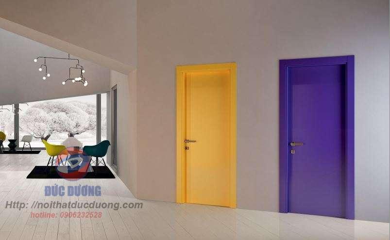 Sản phẩm cửa gỗ sơn màu mới13