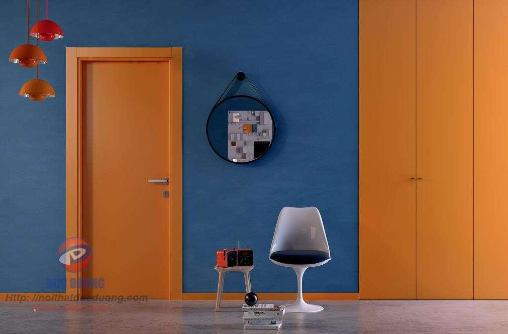 Sản phẩm cửa gỗ sơn màu mới8