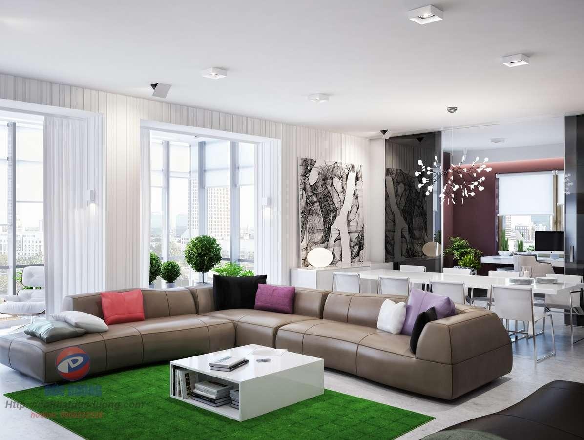 Phòng khách đầy màu sắc và những trạng thái cảm xúc.