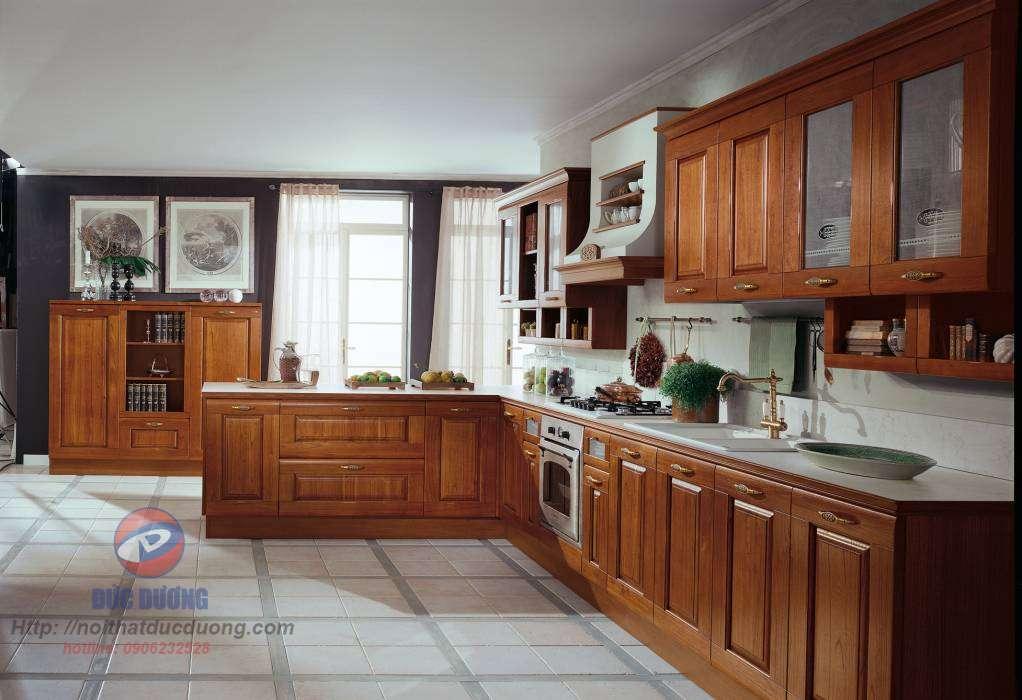 Tủ bếp cổ điển – M21