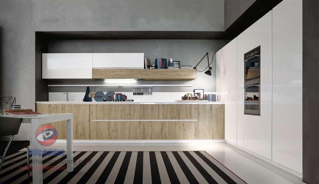 Tủ bếp Laminate vân sồi – M62