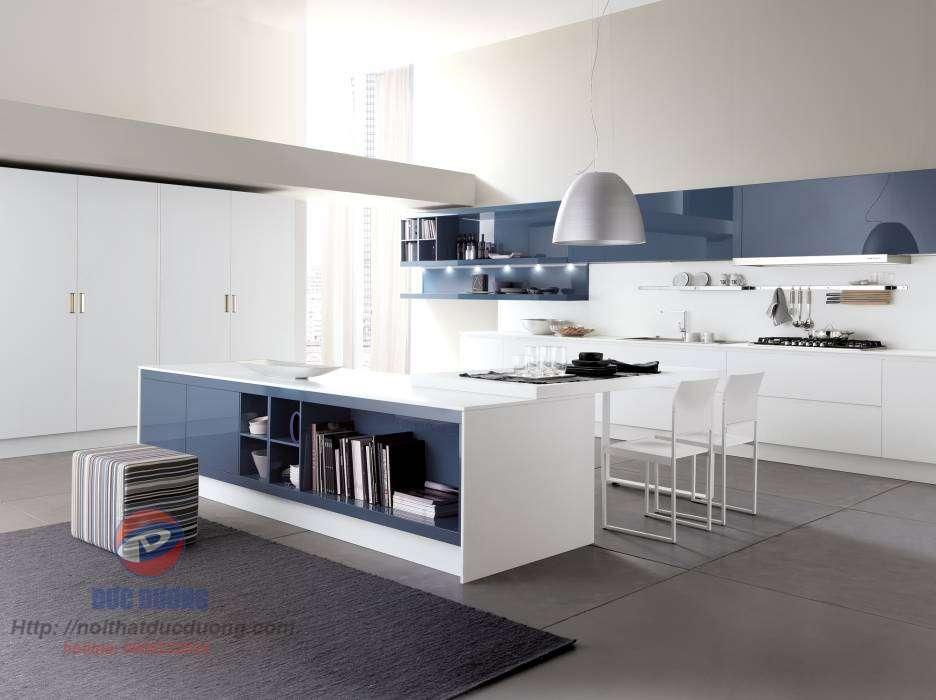 Tủ bếp màu xanh – M47