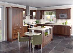 Tủ bếp gỗ óc chó – Xu hướng hiện đại cho nhà bếp