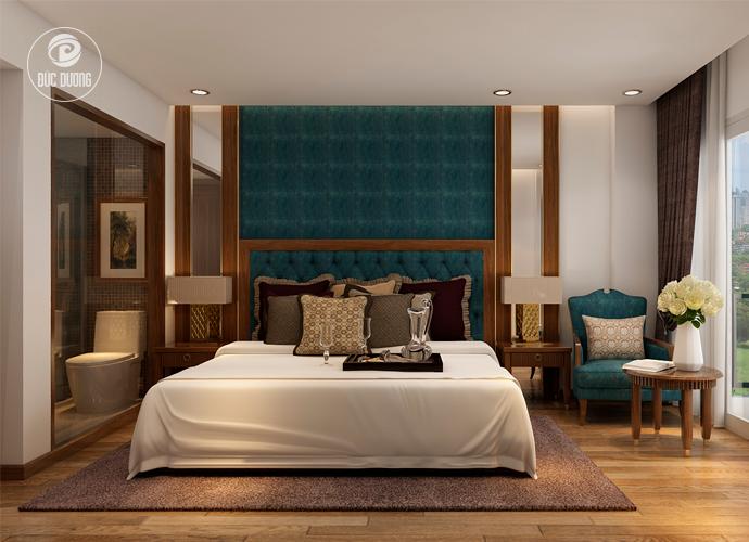 Nội thất phòng ngủ khách sạn Sapa Paradise