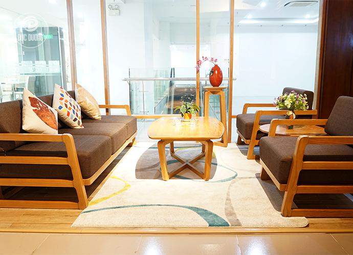 Sofa gỗ sồi Mỹ SFS010