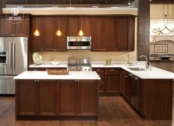 tủ bếp chữ làm đẹp không gian căn bếp