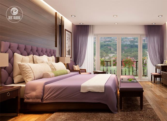 Hình 1: mẫu phòng ngủ khách sạn 3 sao