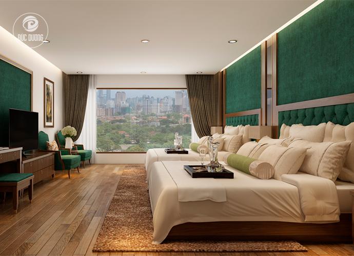 Hình 2: phòng ngủ với tầm view rộng và thoáng.