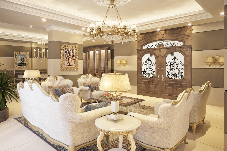 Hình 2: Thiết kế nội thất sang trọng – nguy nga – đường nét trạm trổ tinh sảo và bắt mắt