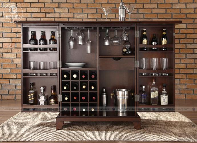 Tủ rượu gỗ cao cấp