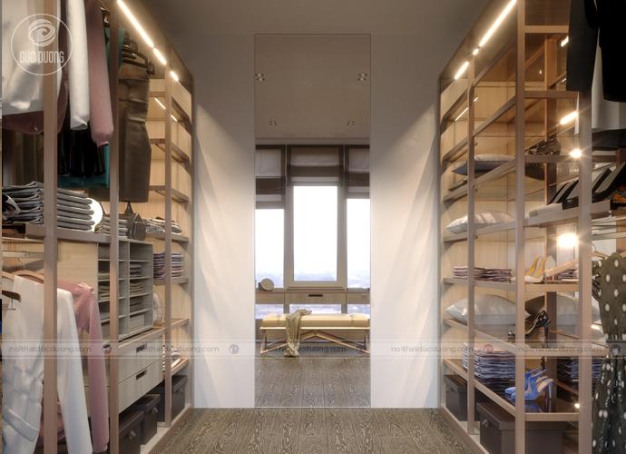 Thiết kế mẫu tủ quần áo thông minh cho không gian hẹp