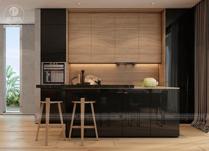 Nội thất phòng ăn giá rẻ cùng lối thiết kế không gian khu bếp kiểu quán bar thu nhỏ