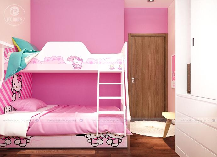 Hình 5: phòng ngủ giường đôi tiết kiệm diện tích cho căn phòng