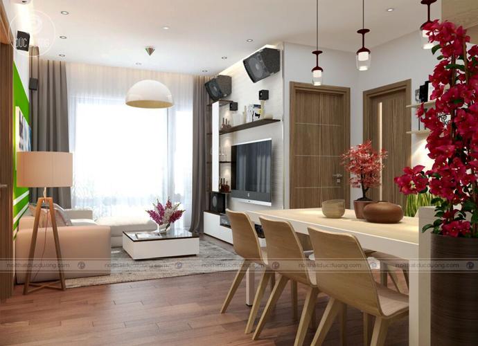 Hình 3: nội thất hiện đại được sắp xếp 1 cách khoa học trong căn phòng.
