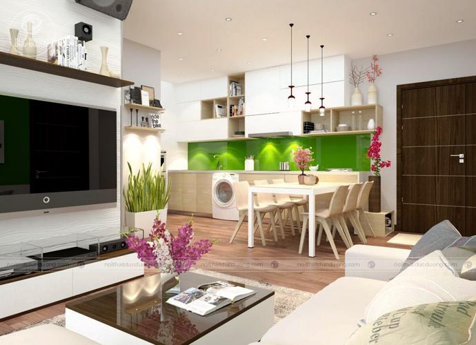 Hình 2: mặt bàn kính cường lực – toát lên vẻ đẹp hiện đại sang trọng cho phòng khách.