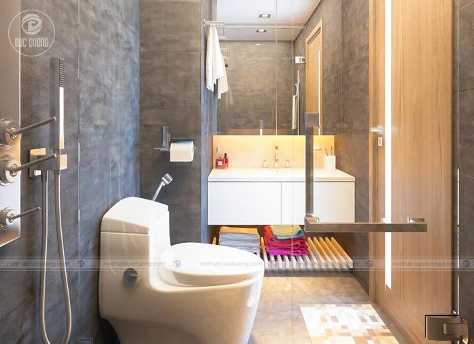 Hình 10: phòng vệ sinh sắp xếp tiện lợi và hợp lý