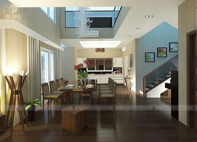 Hình 6. Thiết kế căn bếp nối tiếp ngay cạnh phòng ăn.