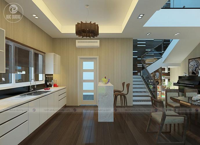 Hình 7. Thiết kế nội thất phòng bếp hiện đại – tiện nghi