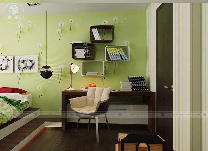 Hình 13 – kệ sách sáng tạo trong căn phòng