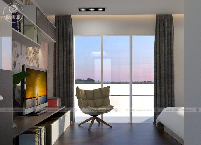 Hình 11: cửa sổ lớn giúp căn phòng thông thoáng hơn.