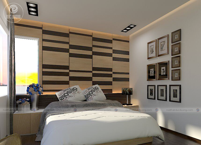 Hình 9: thiết kế phòng ngủ con trai lớn