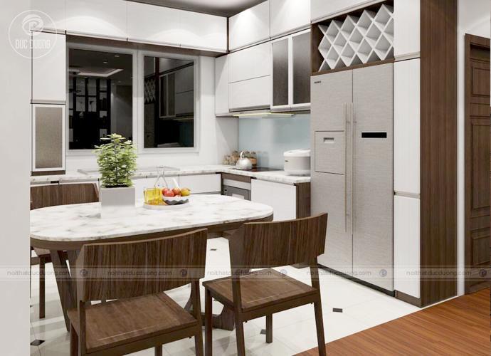 Hình ảnh 7: Gọn nhẹ - tiện nghi với khu bếp hiện đại.