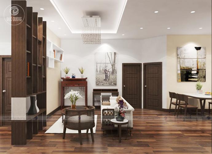 Hình ảnh 5: thiết kế cấu trúc thông phòng tạo độ thông thoáng trong căn hộ.