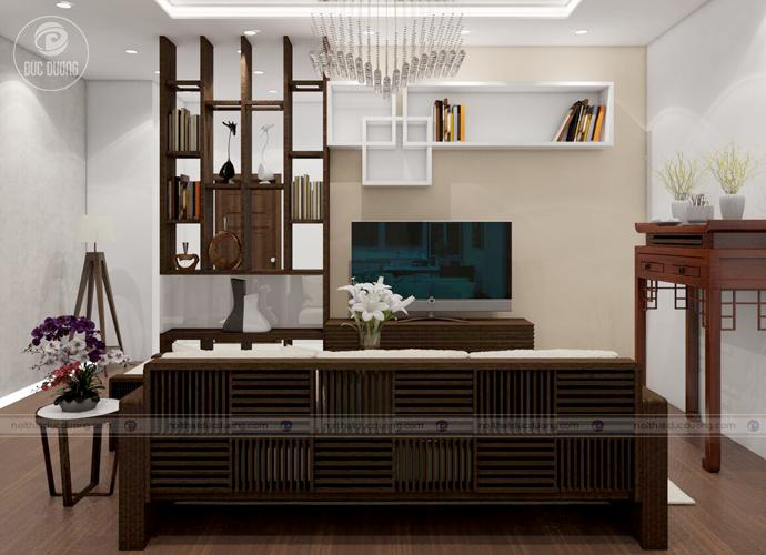 Hình ảnh 3: Thiết kế đan xen lượn sóng tạo điểm khách biệt cho phần thân ghế sofa