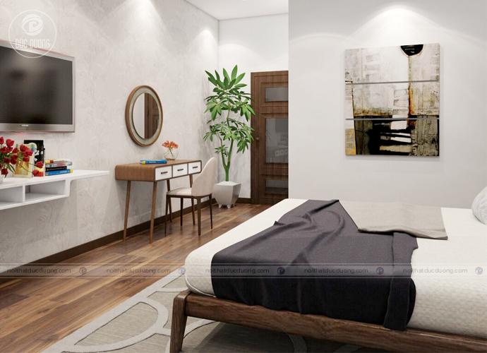 Hình ảnh 10: kệ tivi treo tường giúp tiết kiệm diện tích cho căn phòng.