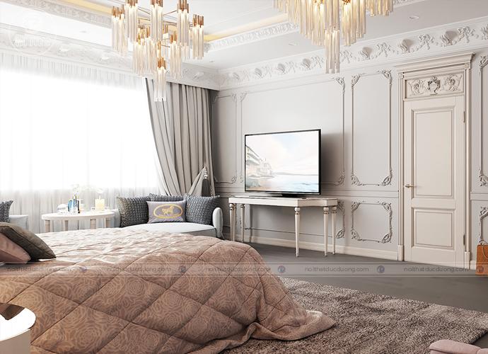 Hình 4: Phòng ngủ thoáng với ban công rộng và hướng ra khoảng không rộng lớn.